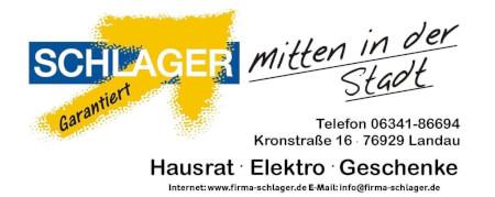 Schlager e.K., Haushaltswaren, Elektrokleingeräte, Geschenkartikel Logo